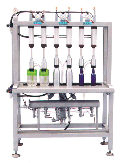 <b>6 head manual bottle filler</b>