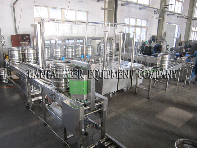 <b>Automatic beer keg filling and washing equipment</b>