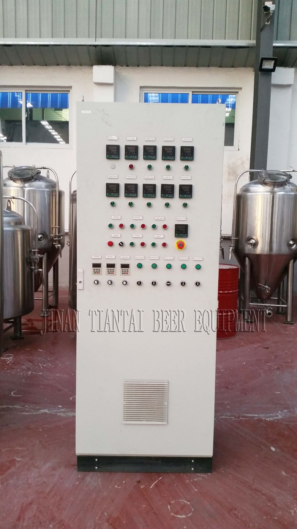 <b>Brewhouse and fermentation combined controller</b>