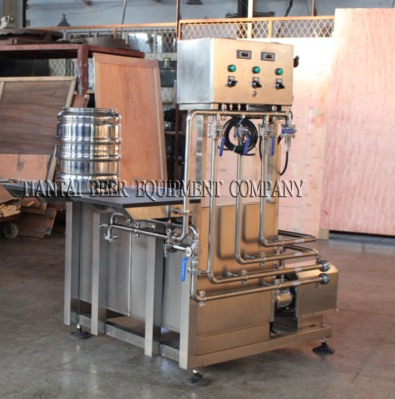 <b>Manual double station keg washer</b>