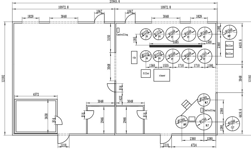brewery layout