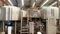 <b>2000L Beer Brewing Equipment have send to France</b>