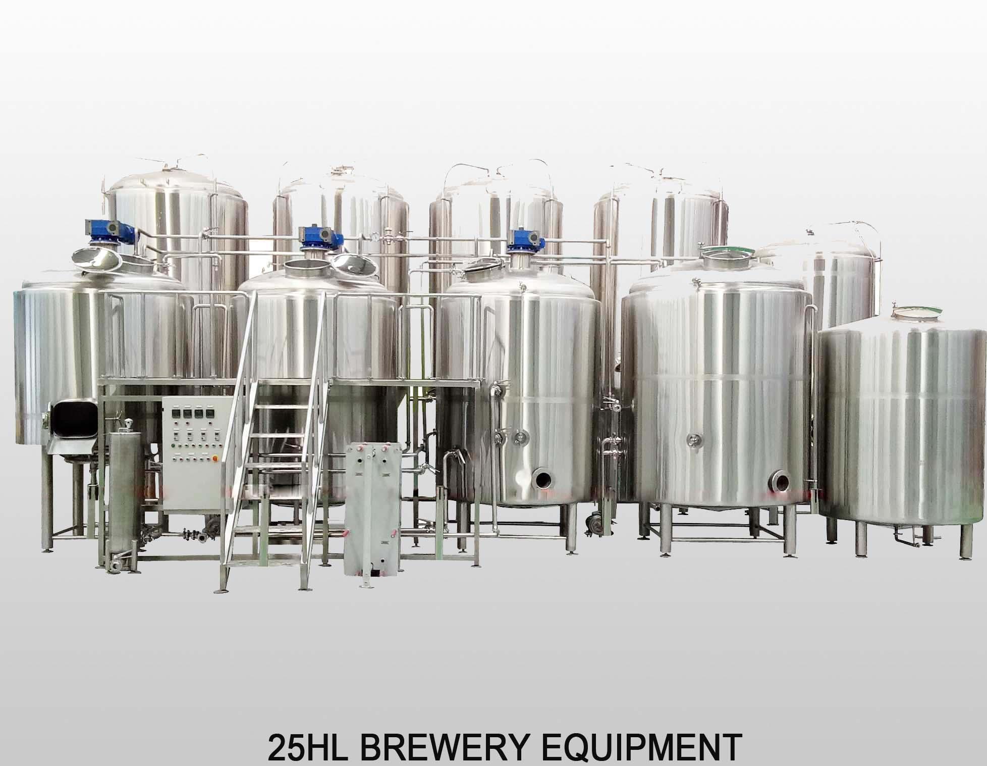 25HL 4-vessels Brewhouse