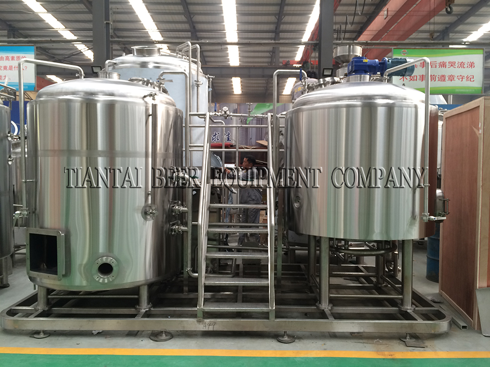 <b>Australia 1200L direct fire heating beer brewery system</b>