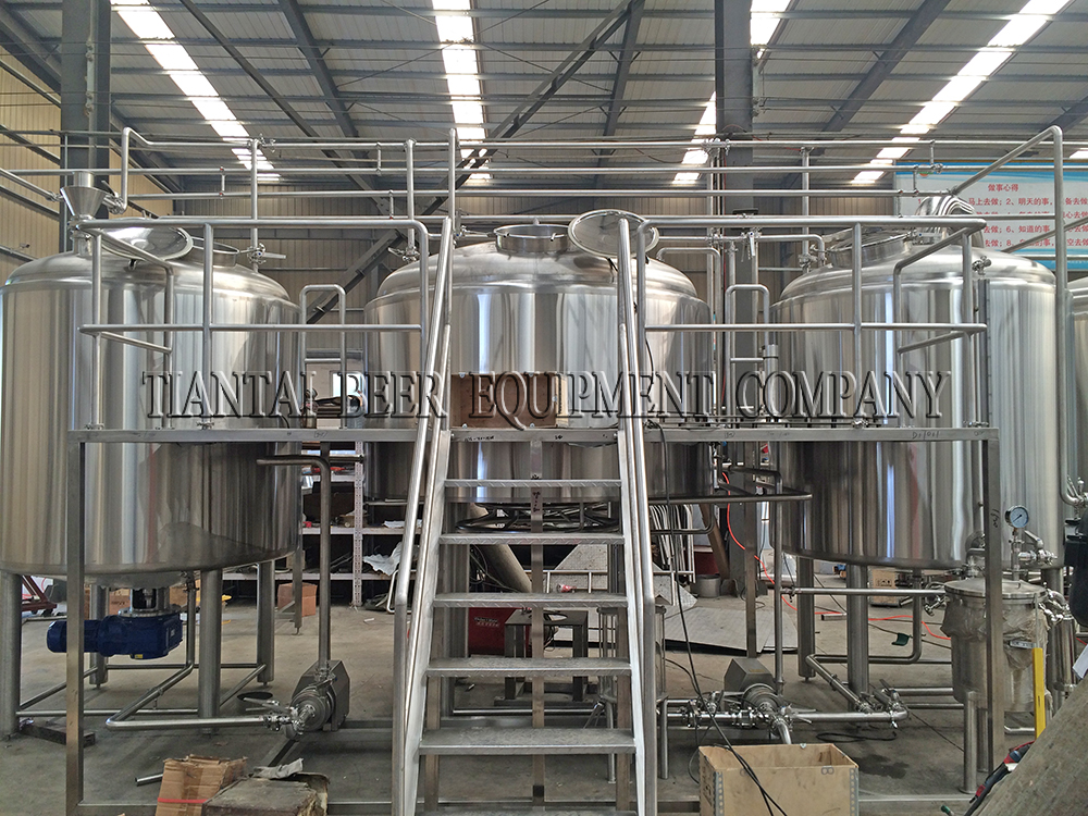 <b>2500L beer brewery system for China</b>