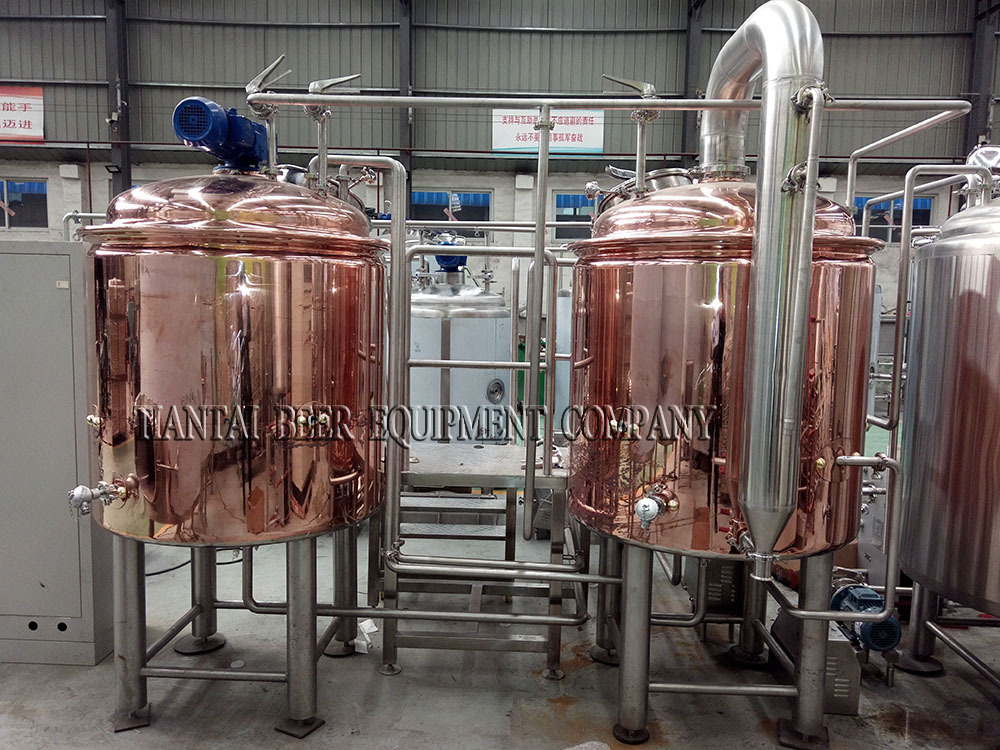 <b>South Africa 500L copper brewhouse</b>