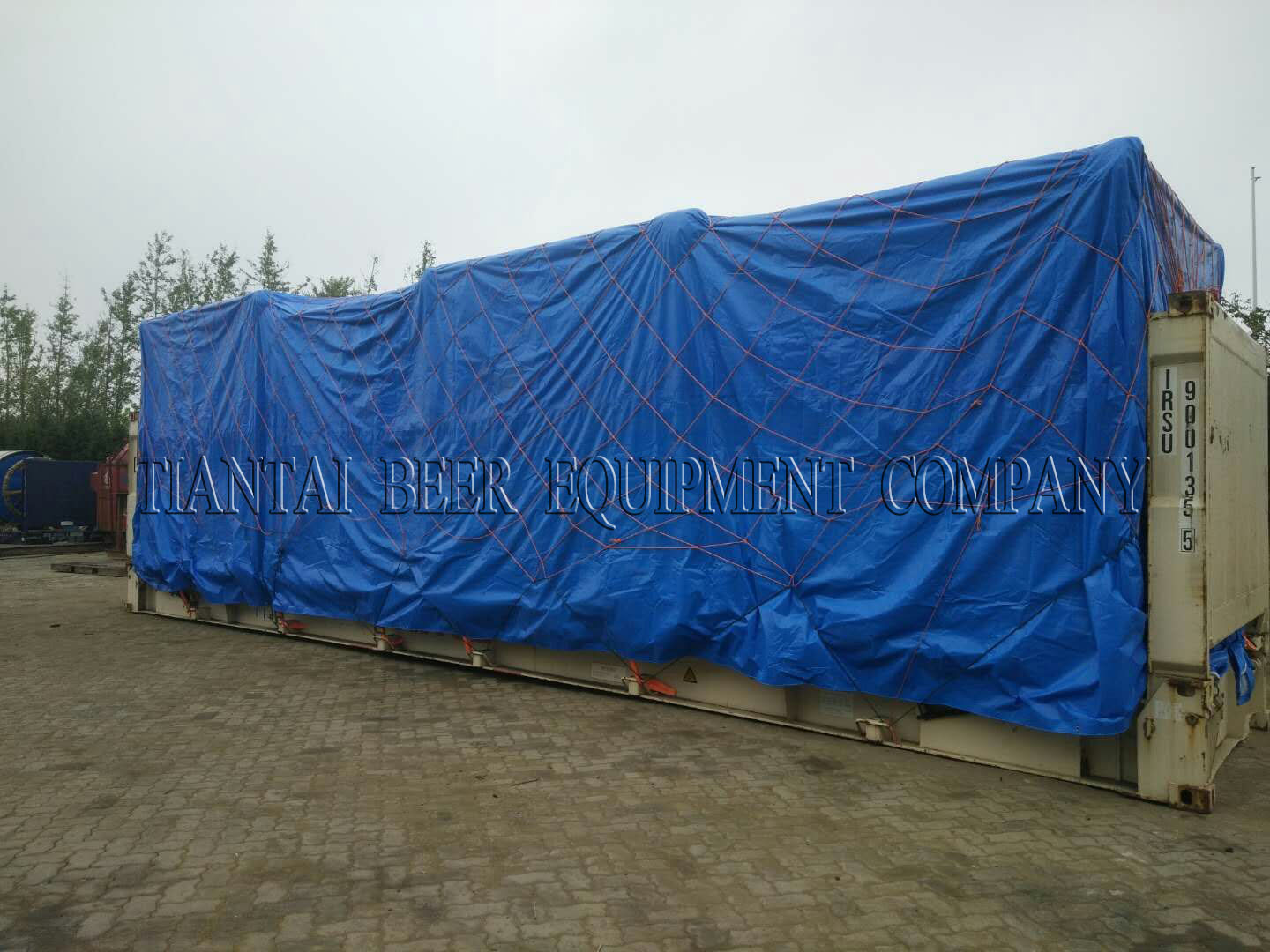 <b>Frame container shipping for 5000L brewhouse</b>