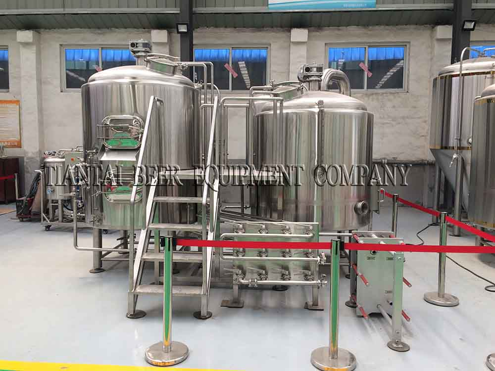 <b>800L USA direct fire heating beer brewery system</b>