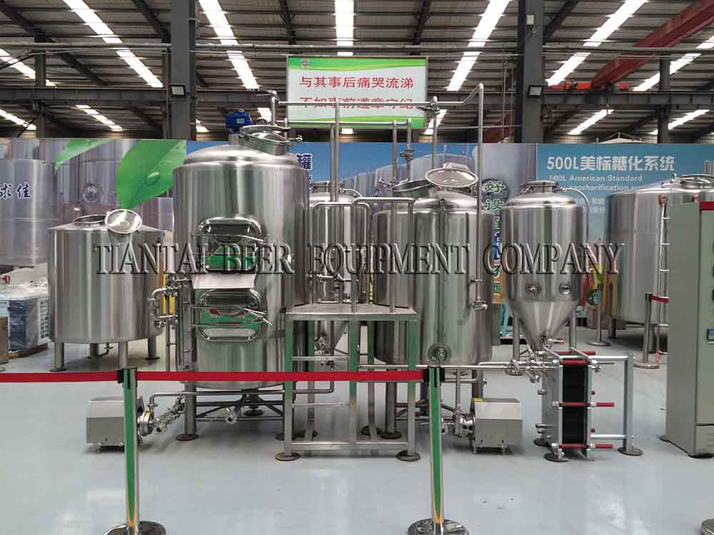 <b>500L electric heating beer brewing equipment</b>