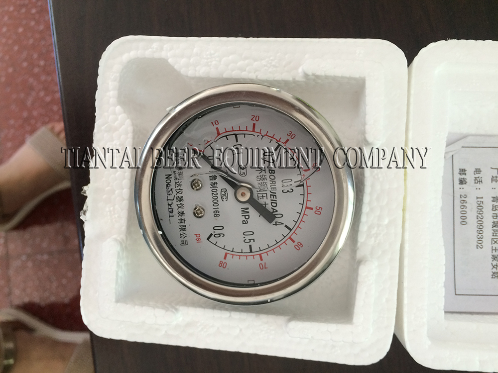 <b>Pressure gauge with back connection</b>