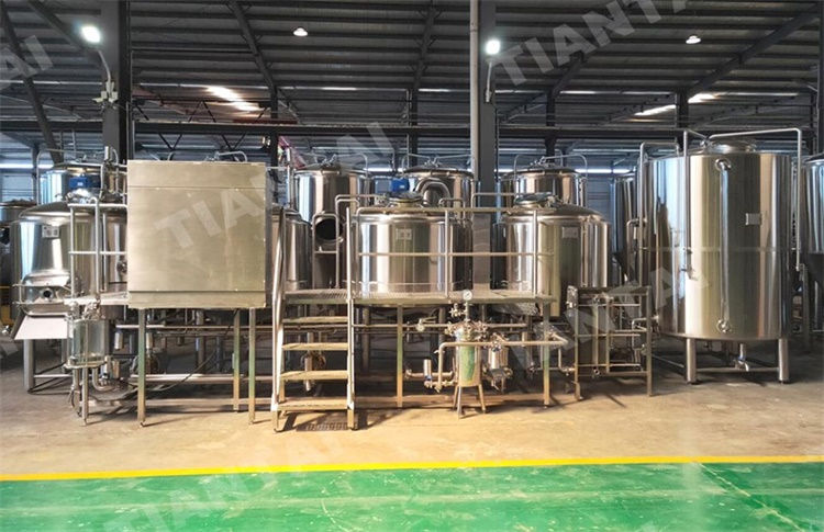 1000L microbrewery system with PLC control
