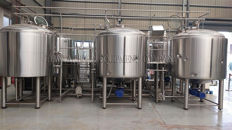 <b>Another set Korea 2500L four vessels brewhouse are ready</b>