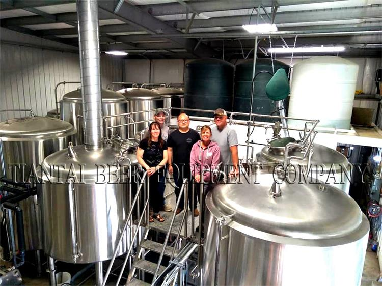 Micro brewery 4000L beer brew system with Canada standard