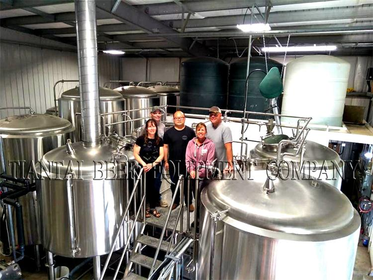 Finished the 4000L Microbrewery installation in Canada