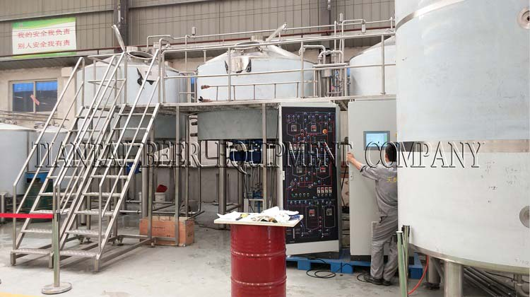 <b>5000L Commercial brewery equipment testing</b>