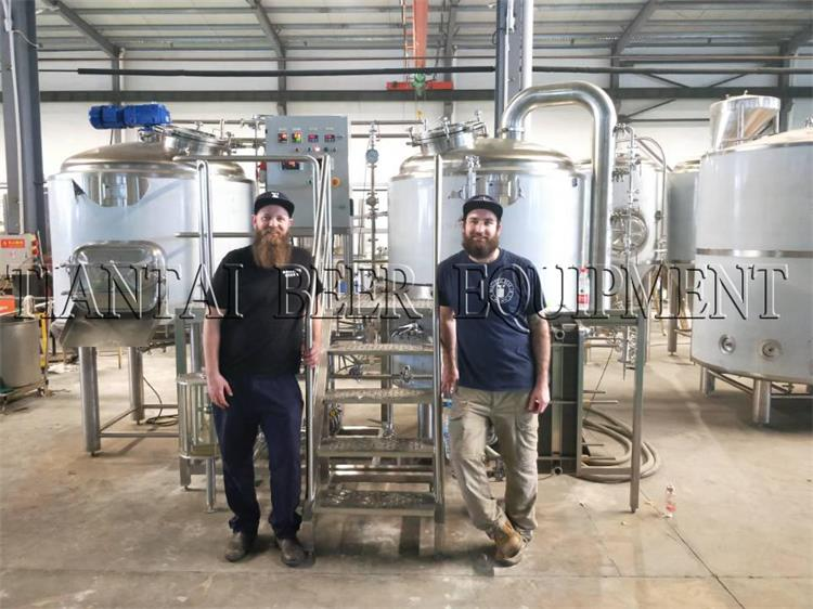 <b>Australia clients inspecting their 500L Brewhouse</b>