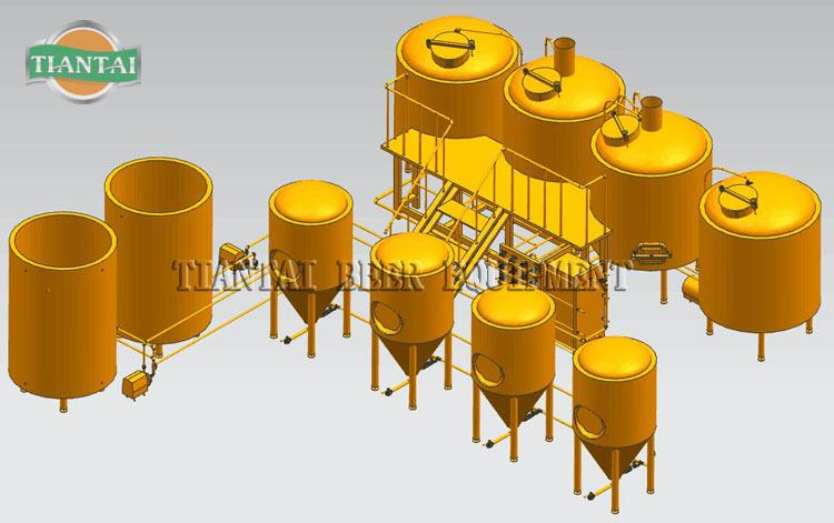 <b>Brewery 3D Drawings  for Brewhouse Fermentation Tank</b>
