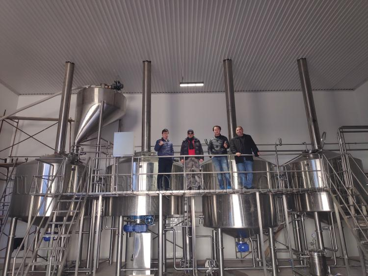 <b>Installation for 5000L Microbrewery in Russia</b>