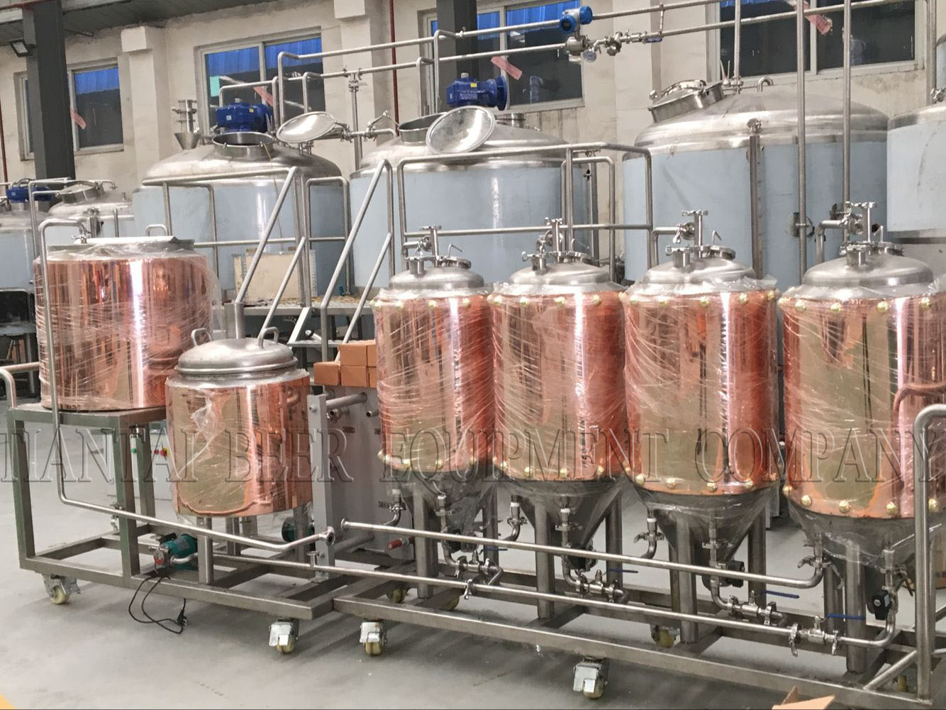 100L copper brewhouse